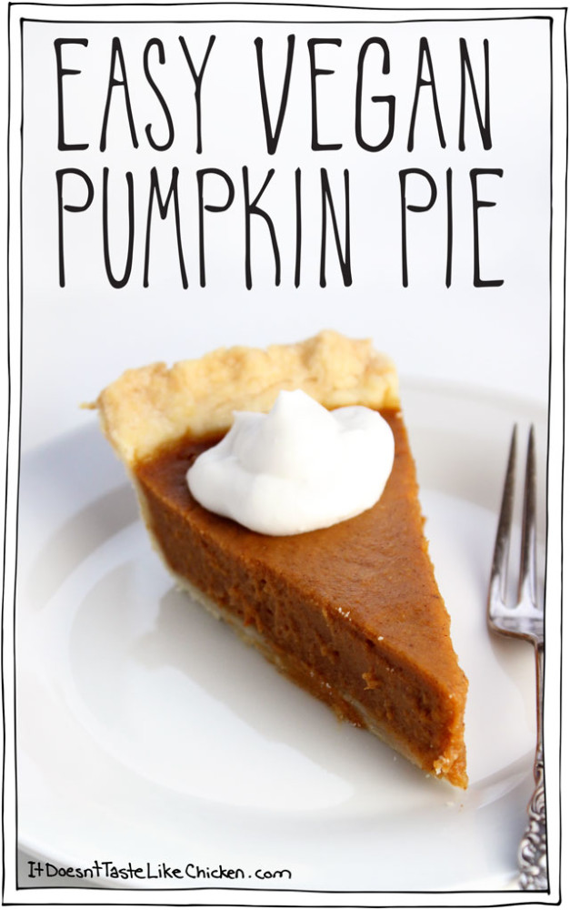 Vegan Thanksgiving Pumpkin Pie Dinner