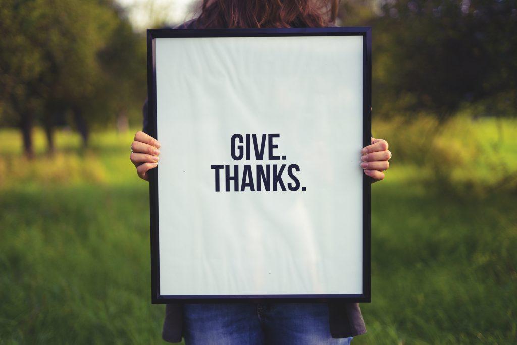 Gratitude Give Thanks Appreciate